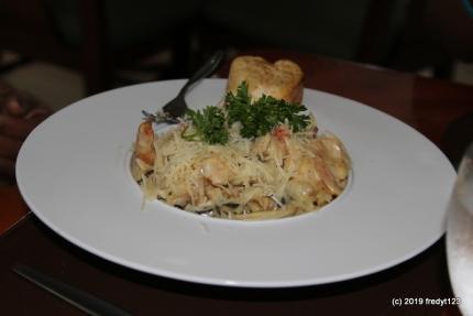 Caribbean Shrimp Fettucine