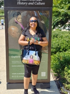 Judith outside of NMAAHC