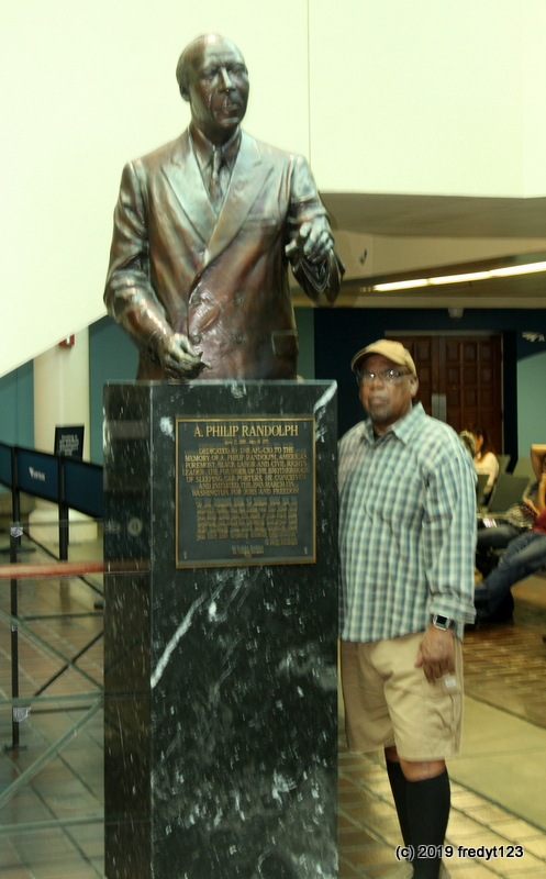Willie posing with A. Phillip Randolph