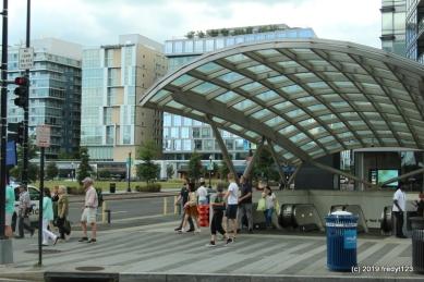 Metro Navy Yard stop adjacent hotel