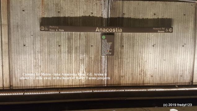 The Metro stop - Anacostia