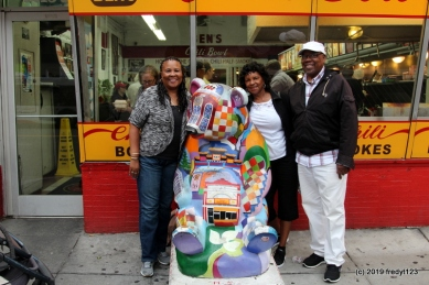 Judith, Del & Willie by famous Ben's Chili Bowl panda