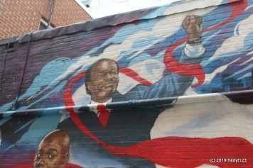 Marion Barry on mural outside of Ben's Chili Bowl