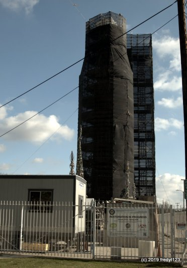 Large towers under restoration