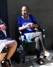 Sista's who set-up sidewalk bar
